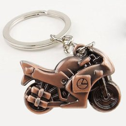 Motorcycle Metal Keychains Australia - Heavy Duty Locomotive Metal Keychains Keyring Creative Motorcycle Zinc Alloy Key Chain Keyfob Car Keychain Motor Fans Men Gift