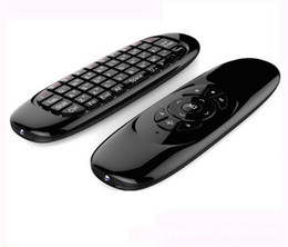 Venta al por mayor de Giroscopio Fly Air Mouse C120 Teclado inalámbrico para juegos Controlador remoto Android Teclado recargable para Smart TV Mini PC