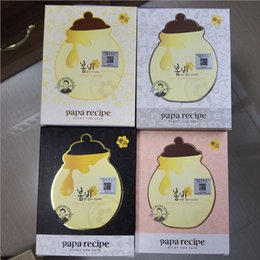 Wholesale Face Mask Papa Recipe Moisturizing Whitening Black Bombee Honey Mask Pack Care Facial Mask Sheet Suitable for Baby Pregnant Women