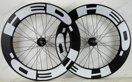 Wheels front carbon clincher online shopping - Freeshipping c mm depth mm width clincher carbon wheels track wheel fixed gear single speed wheelset with hub Novatec