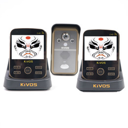 China Wholesale- KIVOS KDB302A Wireless Intercom Video Door Phone 1 Camera and 2 Monitors PIR Take Picture Russian cheap take pictures suppliers