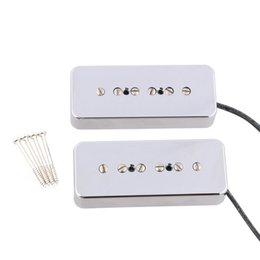 China 2PCS Chrome Soap Bar Humbucker pickups For LP P90 Electric Guitar suppliers