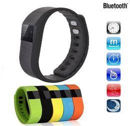Bluetooth Fitbit Smart Watch NZ - Waterproof IP67 Smart Wristbands TW64 bluetooth fitness activity tracker smartband pulsera wristband watch not fitbit flex fit bit Free Ship