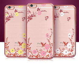 secret iphone 2019 - Luxury Bling Diamond Electroplate Frame Soft TPU Case For iPhone 5 6 6S Plus Galaxy S6 S7 Edge S8 Secret Garden Flower C