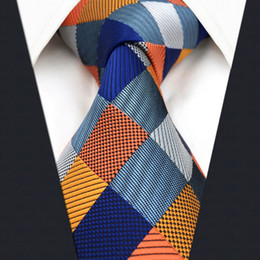 $enCountryForm.capitalKeyWord Canada - S17 Extra Long Size Checked Multicolor Mens Ties Neckties 100% Silk Jacquard Woven Gift For Men