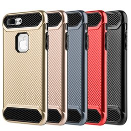 $enCountryForm.capitalKeyWord NZ - For iPhone 8 7 6S 6 Hybrid Carbon Armor Hard Phone Case 2in1 Backcover Back Cover for iPhone8 iPhone7