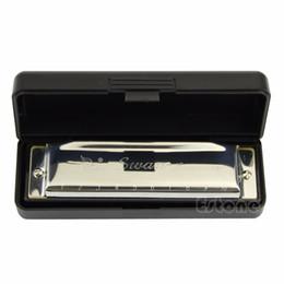 1 STÜCK 10 Löcher Schlüssel von C für Blues Rock Jazz Folk Mundharmonikas Silber Schwan Mundharmonika Musikinstrumente Getriebe
