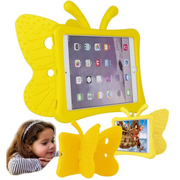 Discount stand for weights - 3D Cartoon Butterfly Kids Light Weight Silicon Hybrid Foam Shockproof Soft Stand Rubber Cases EVA Tote Holder for Ipad M