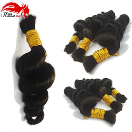 Chinese  Human Hair For Micro Braids Bulk Hair Loose Wave Human Braiding Hair No Weft Extensions manufacturers