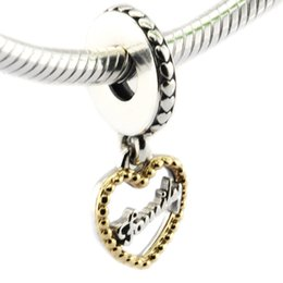 Animals Families Canada - 2016 14K Loving Family Hanging Charm 100% 925 Sterling Silver Beads Fit Pandora Charms Bracelet Authentic DIY Fashion Jewelry