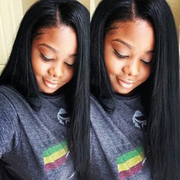 $enCountryForm.capitalKeyWord Canada - Human Hair Lace Wigs With Baby Hair Glueless Full Lace Front Wigs Peruvian Virgin Hair Straight Wigs G-EASY