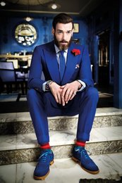 Discount Royal Blue Skinny Suit | 2017 Royal Blue Man Suit Skinny ...