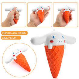 Doll Cakes For Kids Canada - 2017 Kawaii Squishy Jumbo 11CM Big Ear Doll Cartoon Ice cream Squeeze Slow Rising Animal Scented Bread Cake Kid Toy Wholesales