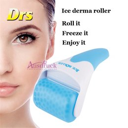 Skin cool roller online shopping - 2Models ABS or Stainless steel wheel New Skin Cool Ice Roller Cold Therapy Face Body arm foot Facial derma Massage Skin Care set kit Machine