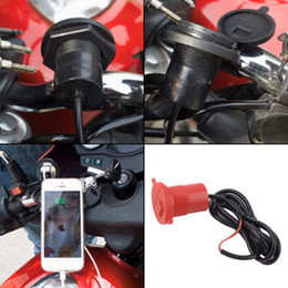 Mobile Power Socket NZ - USB Motorcycle Mobile Phone Power Supply Charger Waterproof Port Socket 12V hot sell