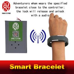 Wear Bracelet Australia - Room escape game prop smart bracelet specific smartband close to contoroller will unlock the door wearing magic band get audio jxkj1987