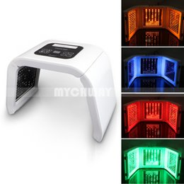 Red light face lamps online shopping - Korea Portable OMEGA Light PDT LED Therapy Red Blue Green Yellow Color Face mask body Light Phototherapy Lamp Machine Skin Rejuvenation