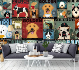 Wholesale funny chinese cartoons online – design 3d wallpaper custom photo mural Cartoon funny dog illustrations living room painting d wall murals wallpaper for walls d