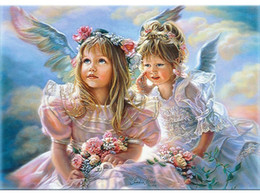 $enCountryForm.capitalKeyWord Canada - Happiness Angels DIY Painting By Numbers Kits Wall Art Picture Acrylic Figure Painting For Home Decor Artwork