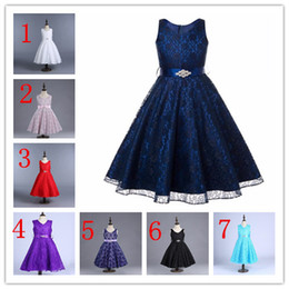 China 15 colors children one-piece kids lace frock design dress little princess dresses baby girl party dress birthday frock suppliers