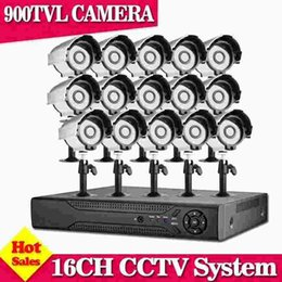 Cctv Dvr 16 Channel UK - CCTV 16 channel HD system 16CH 960H HDMI 1080P Video DVR With 900TVL CCTV Night Security Camera System Support p2p mobile view