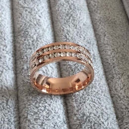 $enCountryForm.capitalKeyWord NZ - Luxury rose 18k gold Plated CZ diamond Champagne rings Top Classic Design Wedding lovers Ring for Women and Men