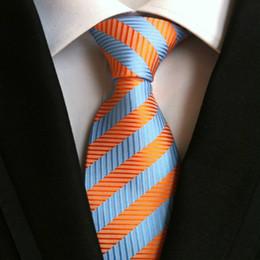 Solid blue green necktie online shopping - Fashion Stripes Men Ties Handmade Silk Tie Men s Paisley Neck Ties Wedding Party Necktie British Style High Quality Business Ties B072