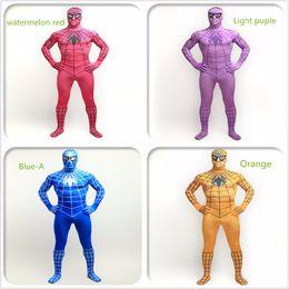 red lycra spiderman suit 2019 - Lycra spiderman zentai suits costumes cheap red lycra spiderman suit