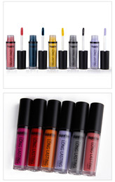 Dark Blue Lipstick Wholesale Canada - lipstick Waterproof Matte Liquid Lipstick rouge a levres Lip Stick Long Lasting Lip Gloss Cosmetic Beauty bea214 dhl