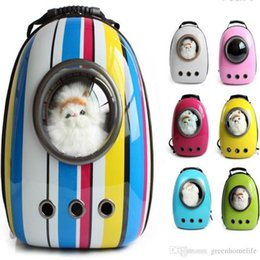 Portable Dog Carrier Bag Canada - Space Capsule Shaped Pet Carrier Breathable Pet Backpack PC Pet Dog Outside Travel Bag Portable Bag Cat Bags
