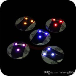 $enCountryForm.capitalKeyWord NZ - Ultrathin High Brightness Coaster LED Light Up Glowing In The Dark Cup Mat Waterproof Round Coasters Multi Color 2 5mj R