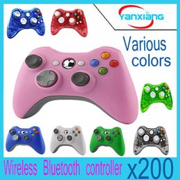 $enCountryForm.capitalKeyWord Canada - 200pcs New Wireless Gamepad Remote Controller For XBOX 360 Console Wireless Black Joystick Microsoft XBOX Game Controller YX-360-01