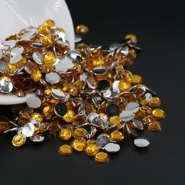 $enCountryForm.capitalKeyWord Canada - Round Topaz Brown Rhinestone High Quality Bling 14 Faceted Cut Crystal Gems Flat back Deco Nail Art, All Size Resin Flatback Rhinestone