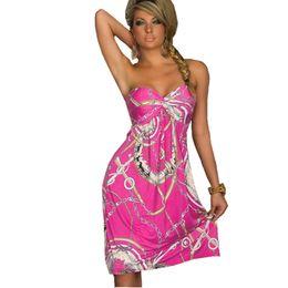 4f209be391 All'ingrosso-Bohemian European Style Women Dress Qualità Prezzo basso Abiti  sexy Vintage Ropa Mujer Print Beach Summer Dress Abiti da festa