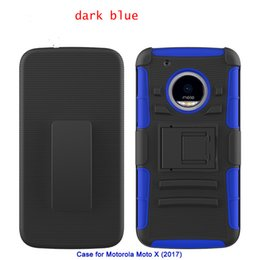 Desire Hard Case Australia - Kickstand Hard Combo case For LG stylo3 Motolola Moto x(2017) HTC Desire 650 ZTE Blade Force N9517 PC+Silicone+TPU Anti-shock Shell