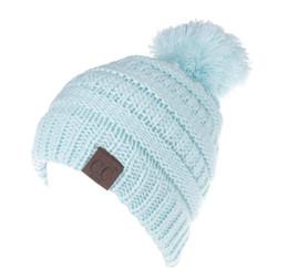 7ca8731f52d girls slouchy beanies 2019 - Hot Sale CC Beanie Kids Knitted Hats Kids  Chunky Skull Caps
