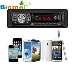 Discount stereo head units - Wholesale- In Dash Car Audio Bluetooth Stereo Head Unit MP3 USB SD MMC Remote HandsFree Car MP3 Audio Player N1213
