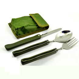 $enCountryForm.capitalKeyWord Canada - 3 in 1 Multifunction Outdoor Portable Stainless Steel Toos Folding Tableware Folding Spoon Fork Knife Portable Picnic Dinnerware with Pounch