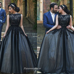 $enCountryForm.capitalKeyWord NZ - Black Colour Long Bateau Neck Prom Dress A Line Lace Arabic African Style Formal Women Wear Special Occasion Cheap Party Dress Plus Size