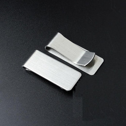 $enCountryForm.capitalKeyWord Canada - Slim Stainless Steel Money Clip Pocket Wallet Credit Card Holder L S For choose Smooth Appearance Hold Bills