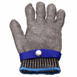 Metal gloves butchers online shopping - Safety work glove Cut Proof Stainless Steel Metal Mesh Butcher seafood Glove High Performance Level Protection