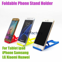 Ipad mInI black online shopping - New Portable Foldable Table Mini Plastic Stand Holder Folding Adjustable Phone Bracket Holder for iphone Samsung ipad Cell phone Universal