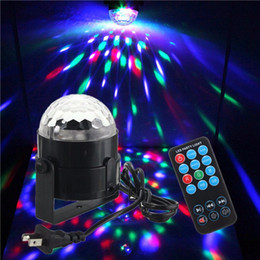 strobe light sound NZ - LED Magic Ball Party Lights 3W RGB Sound Activated Strobe Light DJ Stage Lights with Remote for Disco Party Xmas Wedding KTV Bar Club Pub