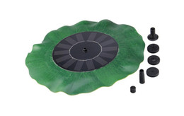 ponds water pump Canada - Watering Power Fountains Pool 7V 1.4W Lotus Leaf Floating Water Pump Solar Panel Garden Plants Fish Pond Fountain Decoration
