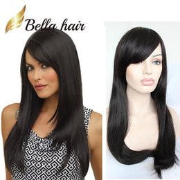silky straight long hair 2019 - Malaysian Straight Full Lace Wigs with Baby Hair Dyable Natural Color Human Hair Wigs Front Lace 130% 150% Density Free
