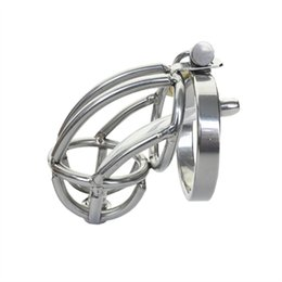 Chastity Device Cock Cage Tube NZ - Urethral Catheter Stretching Tube Penis Ring Penis Cage sex toys for men, metal Cock Cage sex product , Male Chastity Device