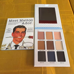 eyeshadow palette mirror 2019 - New arrival Ador Eye Shadow Palette With Mirror Cosmetics Eye Shadow 9 Color Matte EyeShadow Palette cheap eyeshadow pal
