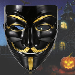 V Vendetta Cosplay Canada - Wholesale-V For Vendetta Mask For Guy Fawkes Anonymous Halloween Fancy Dress Costume Cosplay Venetian Carnival Mask Anonymous Mask
