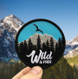 EmbroidEriEd patchEs online shopping - WILD FREE PATCH MOUTAIN FOREST BIRD ADVENTURE EMBROIDERIED PATCH IRON ON CLOTHING SMALL CUTE DECORATION BADGE APPLIQUE EMBROIDERY EMBLEM FRE