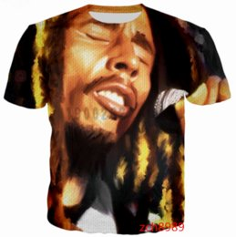 Chinese  2017 Hot Sale Newest Fashion Men Women Bob Marley Star Summer Style Funny Unisex 3D Print Casual T-Shirt S---5XL AA528 manufacturers
